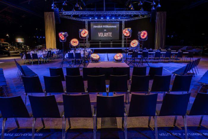 Eventhalle während einer Veranstaltung in Freiburg
